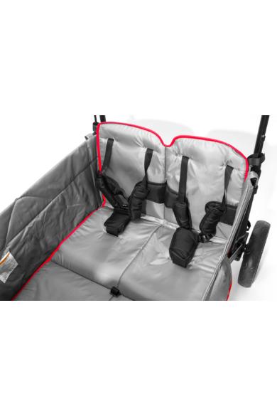 Wapiti Wagon extra, fekete, piros csíkkal, 4 személyes