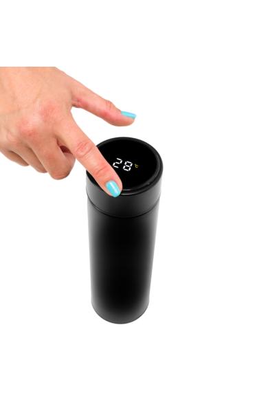 Wapiti hőmérős, digitális kijelzős termosz fekete 450ml