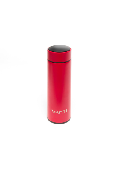 Wapiti hőmérős, digitális kijelzős termosz piros 450ml