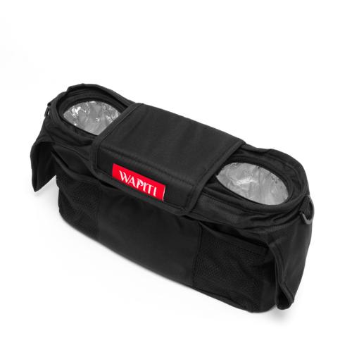 Hőtárolós flakontartó, szürke és sötétkék extra Wapiti Wagonokhoz