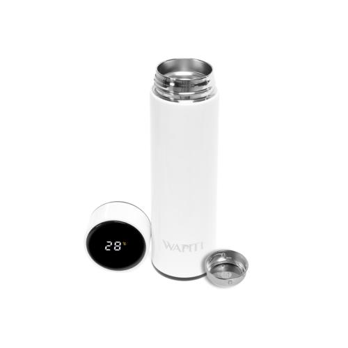 Wapiti hőmérős, digitális kijelzős termosz fehér 450ml